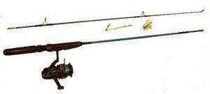 canne a peche 155cm avec moulinet ligne hame/çons et flotteur
