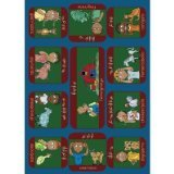 Joy Carpets Kid Essentials Music & Special Needs Signs On The Farm Rug, Multicolored, 5'4