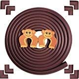 Baby Proofing Safety Edge Corner Guards Protector|Furniture Padding|Simplife, Brown