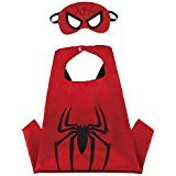 Blingbling Superhero Cape & MASK Set Kids Childrens Halloween Costume Spiderman -