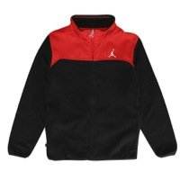 Jordan Kids Microfleece Jacket (Small, Black/Red)