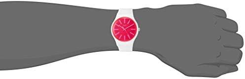 Swatch Women's Quartz Watch with Silicone Strap, White, 20 (Model: SUOW162)