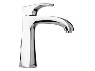 La Toscana 89PW211 Lady Single Post Mount Lavatory Faucet with Pop-Up Drain, Brushed Nickel by La Toscana