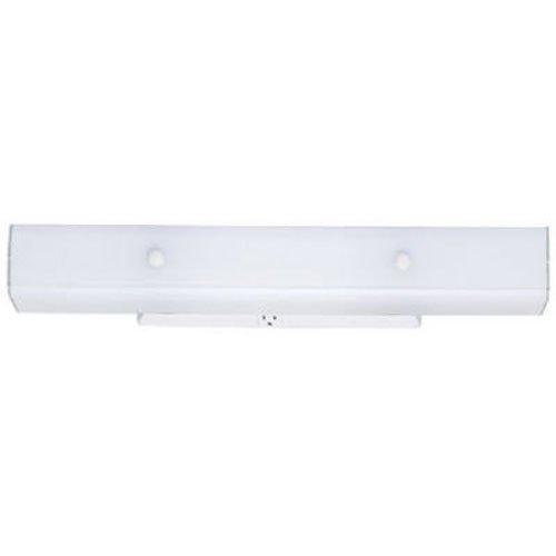 Westinghouse Lighting 6642400 Four-Light Interior Wall Fixture with Ground Convenience Outlet, White Finish Base with White Ceramic Glass - Ceramic Outlet