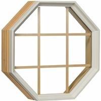 White Vinyl Octagon (Poly Octagon Window)
