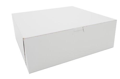 Southern Champion Tray 0985 Premium Clay Coated Kraft Paperboard White Non-Window Lock Corner Bakery Box, 12