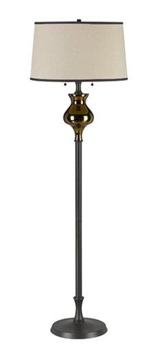 100w Pharmacy Floor Lamp W/adjustable Pole Floor Lamp Rust Colored Finish (Floor Lamp Bankers)