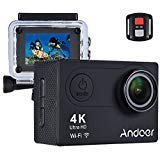 Sports Camera, Andoer Action Camera AN6000 40m Waterproof 4K 16MP Wireless Ultra HD 170° Wide Angle Lens with Remote Control 2