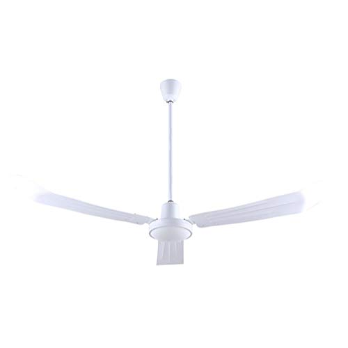 Canarm CP56 56-inch Industrial Three-Blade Indoor Ceiling Fan White Steel Blades