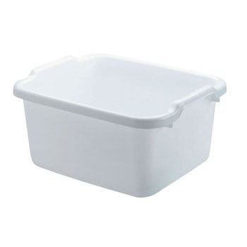 Microban Dish - Rubbermaid Microban Dishpan, 15.23w x 12.46d x 7.8h, White - one dishpan.