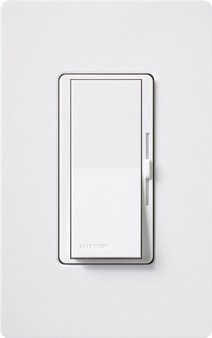 Fluorescent Preset Dimmer (Lutron DVFTU-5A3P-WH Electronics Diva Single Pole 3 Way 5A Fluorescent Preset Dimmer; White by)