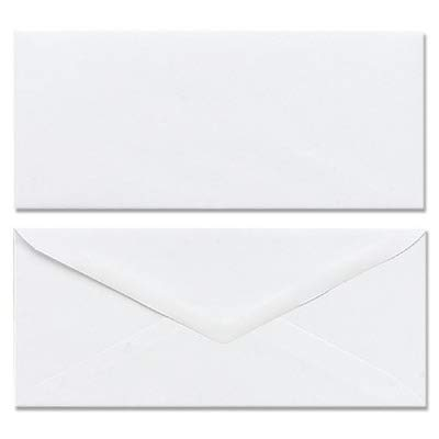 Envelopes 6 3/4 Inches Long White- Box of - Hill White Spring Finish