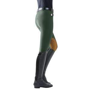 Tailored Sportsman The Ladies Vintage Patch Mid-Rise Front-Zip Breech, Size 28, Black/Tan ()
