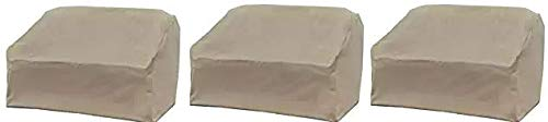 Allen Patio Protectors Patio Love Seat Cover, Weather & Waterproof Love Seat Cover (3-(Pack))