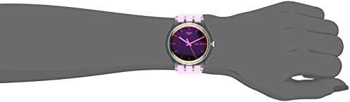 Swatch Transformation Quartz Silicone Strap, Pink, 20 Casual Watch (Model: SUOK710) WeeklyReviewer