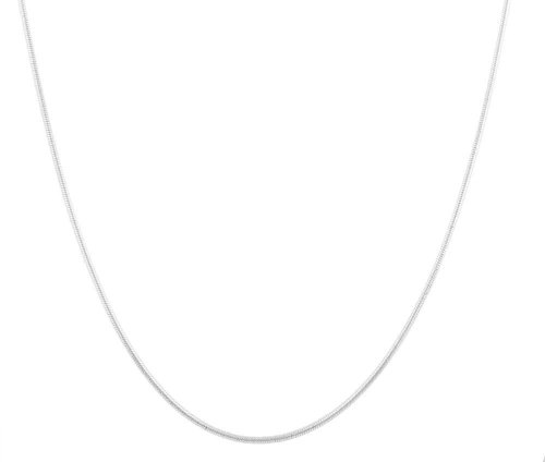 Price comparison product image Silvertone 1.4mm 30 Inch Snake Franco Chain Necklace (P-340)