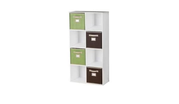 . Amazon com  Martha Stewart Living  Stackable 8 Cube Organizer  White