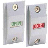 Satin Aluminum Finish Locked Indicator