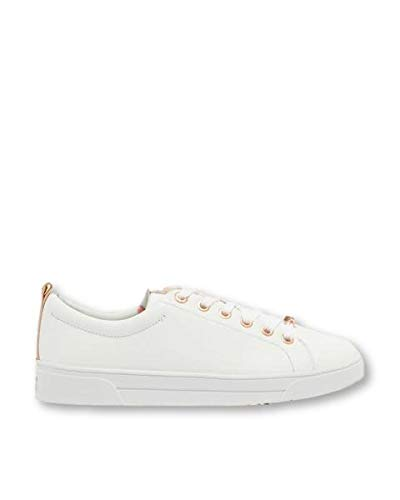 Ted Baker Womens White Kellei Sneakers-UK 8