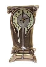 1125-Inch-Melting-Warped-Clock-Polished-Bronze-Cracked-Eggshell-Face