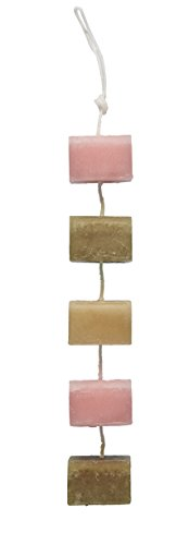 DecoFLAIR Candles On A Rope Scented Tealight Votive Candles, Tropical Berry, String of 5 (Flair Five Light Bath)