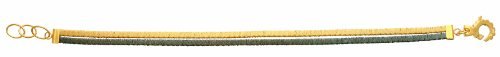 Diamantly - Bracelet Bicolore 2 Fils Torsadees - or 375/1000 (9 Carats) - Femme - Fille