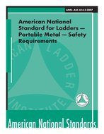 ANSI/ALI A14.2-2007 American National Standard (ASC) for Ladders - Portable Metal - Safety Requirements