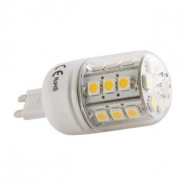 G9 LED 5W 24 LED 5050 SMD LED Light Bulb Warm White 3000k Replaces ...