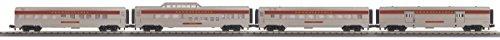 (MTH Electric Trains O Gauge RailKing 4-Car 60' Streamlined Passenger Set)