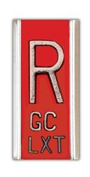X-Ray Markers, Elite Style - 2-3 Initials per Line, RIGHT ONLY, R 5/8'', Vertical