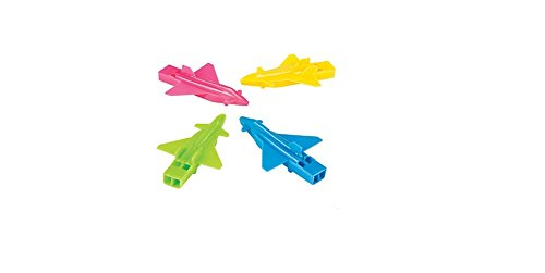 Plane Shaped Whistles 24 Piece(s) Party Favors by Party Favor Supplies