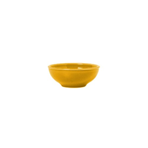 Syracuse China 903044002 Cantina Saffron 5 Ounce Salsa Bowl - 12 / CS - Ounce 5 Bowl Salsa