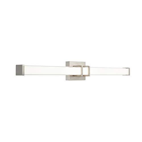 Baracino 36 inch LED Bathroom Vanity Lights   Brushed Nickel Bathroom Light LL-WL918-1BN-36 (Vanity 36 Bathroom Light)