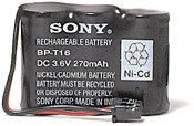 Sony BP T16 - Phone Battery 1 x NiCd 270 mAh [Electronics