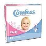 Comfees? Disposable Pull On Girls Training Pants Stretchable 2T to 3T, Up to 34 lb CS/156 by Attends Healthcare Products