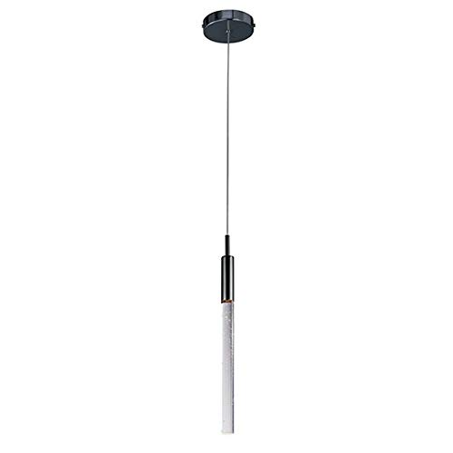 ET2 E32771-91BC Scepter 1-Light Pendant Mini Pendant, Black Chrome Finish, Bubble Glass, PCB LED Bulb, 20W Max., Dry Safety Rated, 3000K Color Temp., Standard Dimmable, Glass Shade Material, 4500 Rated Lumens