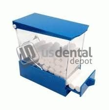 PLASDENT - Pull Style Cotton Roll Dispenser - # 207CDR-BLUE Color : BLUE - Each 001-207CRD-B DENMED Wholesale
