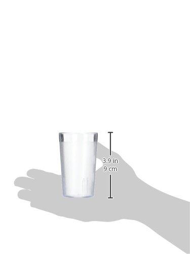 New Star 12 pcs 5 OZ Red Color Restaurant Tumbler Beverage Cup Stackable Cups Break-Resistant Commercial Plastic