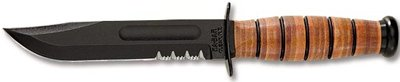 Ka-bar Short USMC Serrated Knife