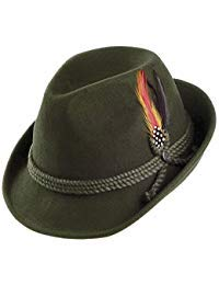 Jaxon Alpine Fedora Hat (Medium, Moss)