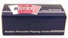 """PINOCHLE PLAYING CARDS-AVIATOR (12pk) by """"The United States Playing Card Co, Cincinnati, Ohio"""""""