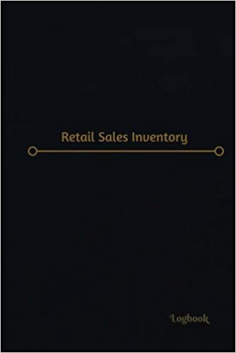 retail sales inventory log logbook journal 120 pages 6 x 9