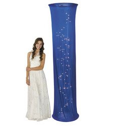 Light-Up Blue Fabric Column - Solid Color Party Supplies & Solid Color Party Decorations by Fun Express