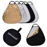 Neewer 5 in 1 Portable Triangle 43''Inch/110cm Multi Camera Lighting Reflector/Diffuser Kit with Grip and Carrying Case for Photpgraphy (43