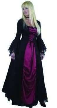 Gothic Devil Female Costumes (Women Size X-Small (3-5) - Gothic Vampira Costume (Note - Running small))
