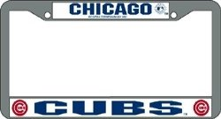 Chicago Cubs Chrome License Plate ()