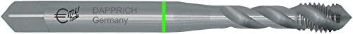 HiPC Maschinengewindebohrer HSS-E Co5, GRULO, RH, DIN 371 C15/35, Metrisches ISO-Regelgewinde nach DIN 13: C35°, M 5 ISO2/6H