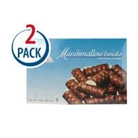 Joyva Chocolate Covered Marshmallow Twists -- 9 oz Each / Pack of 2