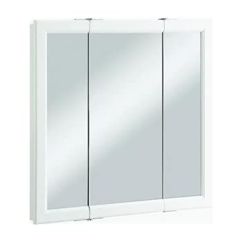 Design House 545293 Wyndham White Semi Gloss Tri View Medicine