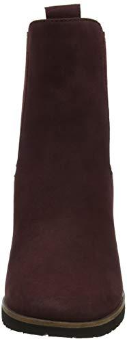 Anne Chelsea Timberland Rouge Femme Bottes Port Nubuck C60 Leslie dark qtxtr5Aw